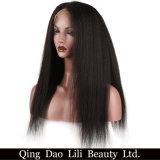 最もよいブラジルのアフリカの黒人女性のためのねじれたカーリーヘアーのかつらのGluelessの人間の毛髪のレースの前部かつら