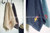 卸し売り綿の平野によって染められる刺繍のロゴのホームホテルの浴室タオルの浴室タオル