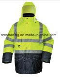Высокая видимость светоотражающие куртки, отражающей куртка безопасность работы износ