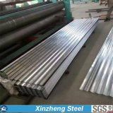Folha de metal de metal galvanizado telhado de aço corrugado de disco cheio