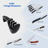 Affûteuse à couteaux 3 étages et 3 po en 1 sac à main en forme de stylo Retractable Sharpener