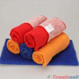 De gele Katoenen Schoonmakende Handdoek van Microfiber
