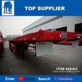 Titan-Fahrzeug - Flachbettschlußteil, der einen 40FT Behälter mit 3 Welle und Behälter beladen kann, verdrehen Verschluss