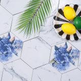 Tegel van de Vloer van de Steen van het Porselein van de jazz de Witte Ceramische Verglaasde Marmeren Hexagon
