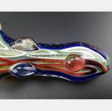 Tubulação de água de vidro da cor de petróleo do filtro da tubulação do fumo de 4.92 polegadas