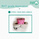 Zelfklevende Etiketten op hoge temperatuur, de Geschikt om gedrukt te worden Stickers van het Etiket van het Staal