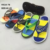 Мужчин летом моды яркий цветной Beath Flip флоп флоп опрокидывания из ПВХ (HX16-76)
