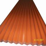 Couleur métal ondulé recouvert de feuille de toiture Prix