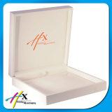 Коробка индикации ювелирных изделий полных ювелирных изделий упаковывая установленная роскошная белая деревянная