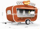 Het mobiele Voertuig van de Snack van de Vrachtwagen van het Voedsel van de Stijl van de Straat van de Kar van het Snelle Voedsel voor Verkoop