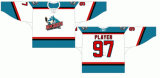 La Lega di Hockey occidentale personalizzata Kelowna dei capretti delle donne degli uomini saetta in alto il hokey di ghiaccio domestico della strada 1995-2009 Jersey