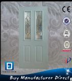 Fangda moderne 8 Panel-bereiftes Glas-Einlage-Eintrag-Stahltür