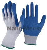 Nmsafety 10g Polyester Palm Coated Latex Work Safety Glove