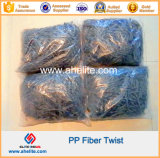 PP Twist Fibra Synthéticas Macro Fibras Twisted Bundle Form