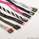 Scarpa da tennis multicolore delle calzature della corda del nastro del cavo di tiraggio del merletto di modo su ordinazione