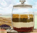 Freies Beispielkorn-Sammelbehälter-großes Glasspeicher-Glas-Glasbehälter mit Kappe
