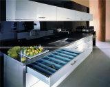 Armários de cozinha acrílicos de madeira personalizados lustrosos