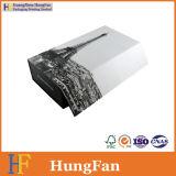 Rectángulo de empaquetado plegable de lujo de encargo del regalo de papel de la cartulina