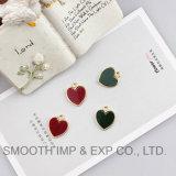 В форме сердечка Золотой план эмаль очарование кулоны многоцветные украшения браслет