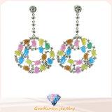고품질 형식 은 귀걸이 색깔 돌 귀걸이 (E6662)