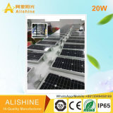 공장 새로운 20W LED 정원 태양 램프 옥외 빛