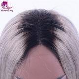女性のスライバカラー完全なレースのかつらのためのインドのバージンの毛の長い直毛