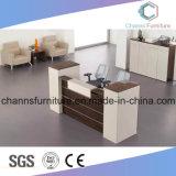 Meubles en bois table office bureau de réception noir et blanc (AR-RD1802)