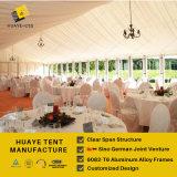 tenda esterna di cerimonia nuziale condizionata aria della gente di larghezza 1000 di 25m con la chiesa Windows