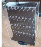Plancher clair de stand de mur verrouillant le coffret d'étalage acrylique pour le vêtement