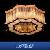 Oro Rosa de lujo en Acero Inoxidable Lámpara de techo de cristal habitaciones de hotel