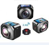 防水12MP/Vr360のポータブルのスポーツの処置のカメラ無線ビデオ・カメラ220度の超広いレンズ1440p/30fps WiFiの腕時計の遠隔コントローラの