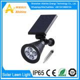 Luz de energía solar de la noche del sensor del jardín de la lámpara impermeable del césped LED