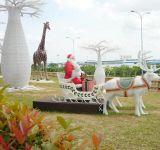 3D Acryl Weihnachtsmann-Motiv im Freien Weihnachtsdekoration Licht