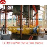 Les petits de type 1T-5t/h Fruits Palm Oil Extraction ligne