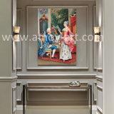 Figure reali pitture a olio della mobilia domestica