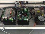 Doppelte Kopf-Laser-Stich-Ausschnitt-Maschinen-lederne Aushöhlung