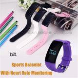 スポーツIP66は心拍数のモニタD21が付いているスマートなブレスレットを防水する