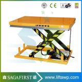 Hölzerner Fabrik-Gebrauch-stationäre hydraulische Scissor Aufzug-Tisch mit Rolle