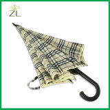 Зонтик гольфа ткани 27inch*8K решетки автоматический прямой