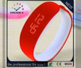 Relógio de venda superior piscar do relógio de pulso do silicone do diodo emissor de luz (DC-1132)