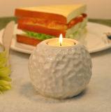 Supporto di candela di ceramica martellato dell'indicatore luminoso del tè