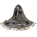 方法トルコ民族様式のジャカード100%年のポリエステルスカーフ