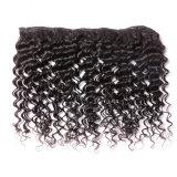 Trama profunda do cabelo das mulheres da onda do laço brasileiro do cabelo humano de Remy do preto da cor da natureza
