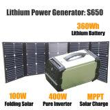 100W Foldable 태양 전지판을%s 가진 휴대용 발전소