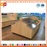 Haltbarer Supermarkt-Speicher-hölzerne Gemüse-und Frucht-Bildschirmanzeige-Zahnstange (Zhv86)