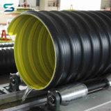 Großer HDPE Stahlstreifen verstärktes Polyäthylen-Plastikgewölbtes Rohr mit Befestigungen