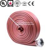 Boyau flexible rayé par PVC orienté vers l'exportation d'incendie durable de tissu