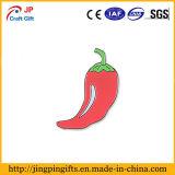 Pin nichelato del risvolto dello smalto del nero del pepe di peperoncino rosso rosso