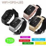 SosボタンT59との年配の安全のためのスマートなGPSの追跡者の腕時計