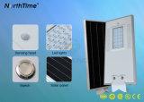 1800-1900lm는 1개의 통합한 LED 태양 가로등에서 모두를 방수 처리한다